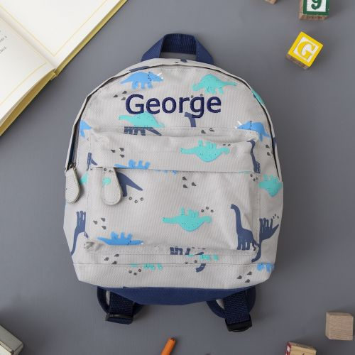 Personalized Dinosaur Print Mini Backpack