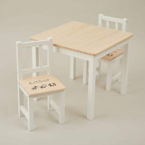 Personalised Jungle Design Table and Chairs Set