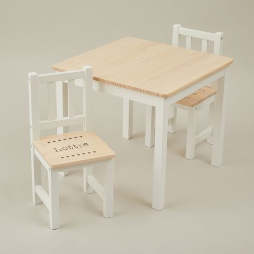 Personalised Hearts Design Table and Chairs Set