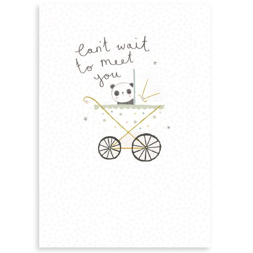 Personalised Can't Wait to Meet You Greetings Card
