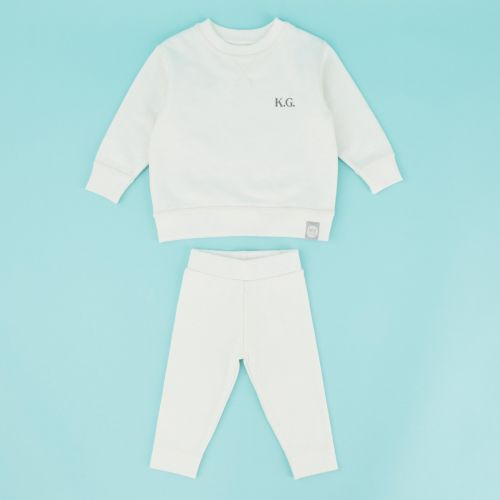 Personalised Ivory Jersey Outfit Set