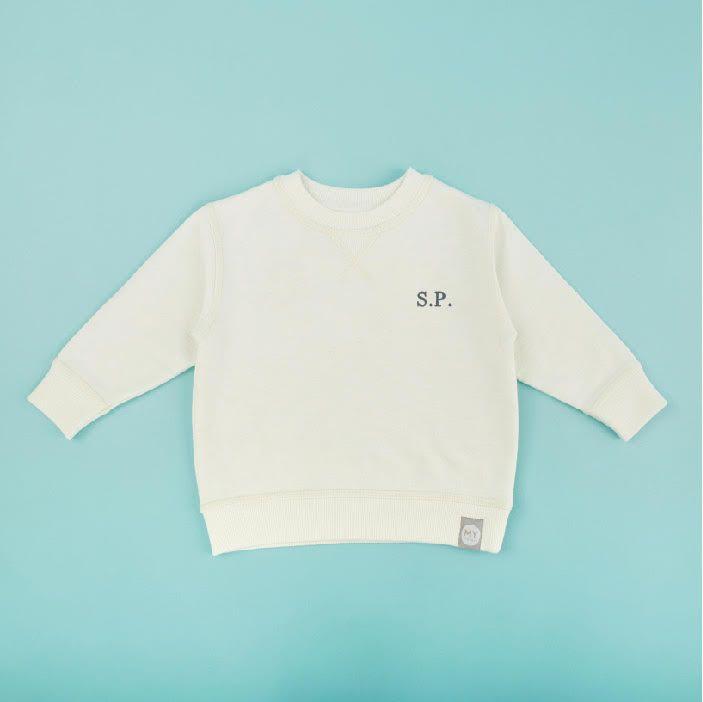 Personalised Ivory Jersey Sweatshirt