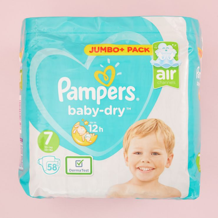 Pampers Size 7 Baby Dry Nappies (Jumbo Pack 58s)