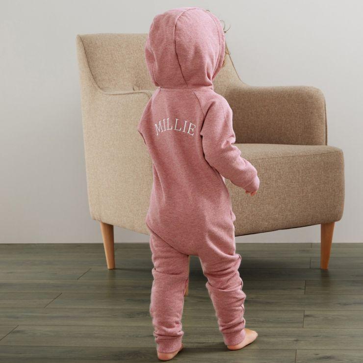 Personalised Jersey Onesie - Pink