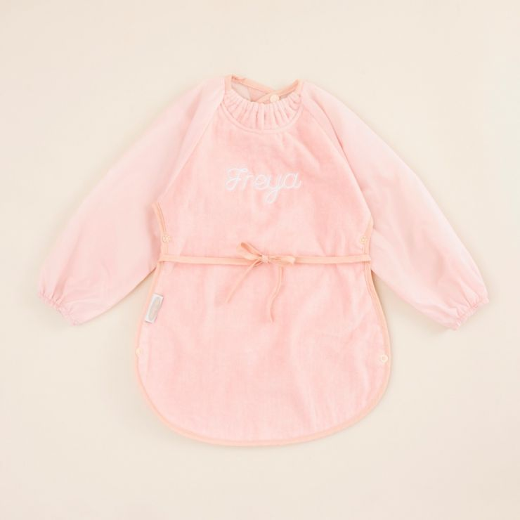 Personalised Pink Messy Eater Apron Bib by Silly Billyz