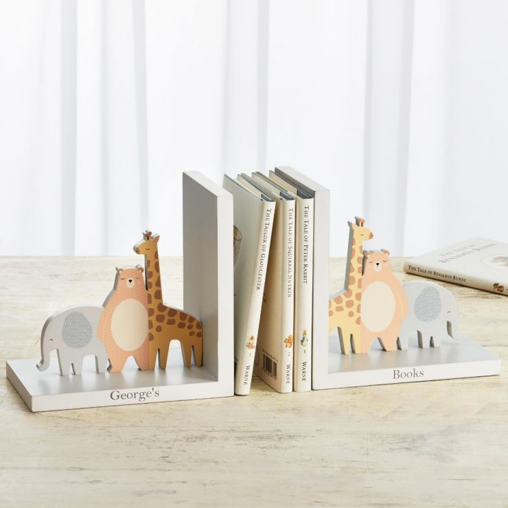 Personalized Animal Friends Bookends