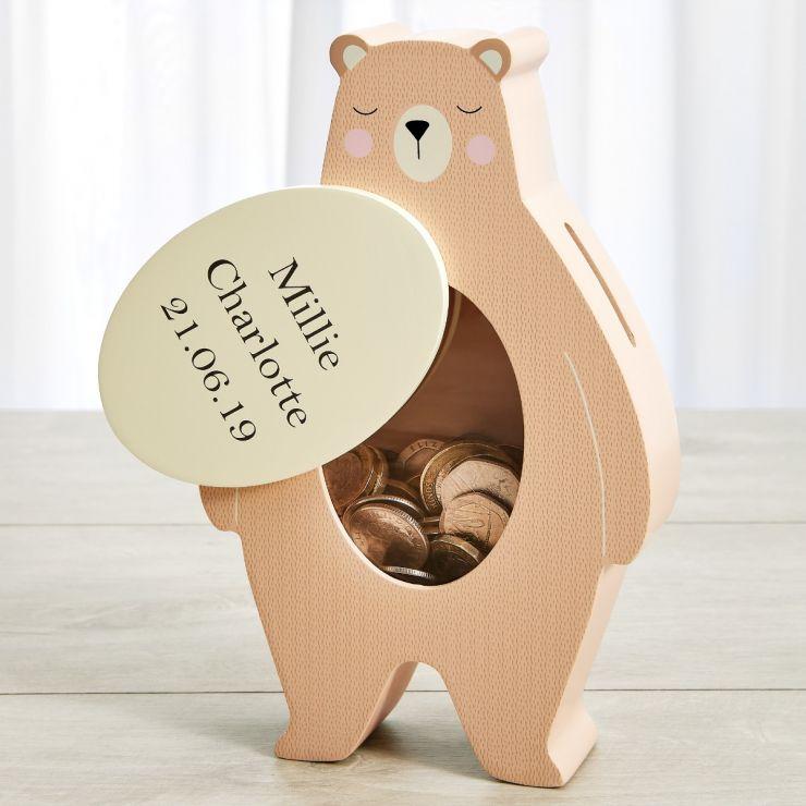 Personalised Bear Money Box