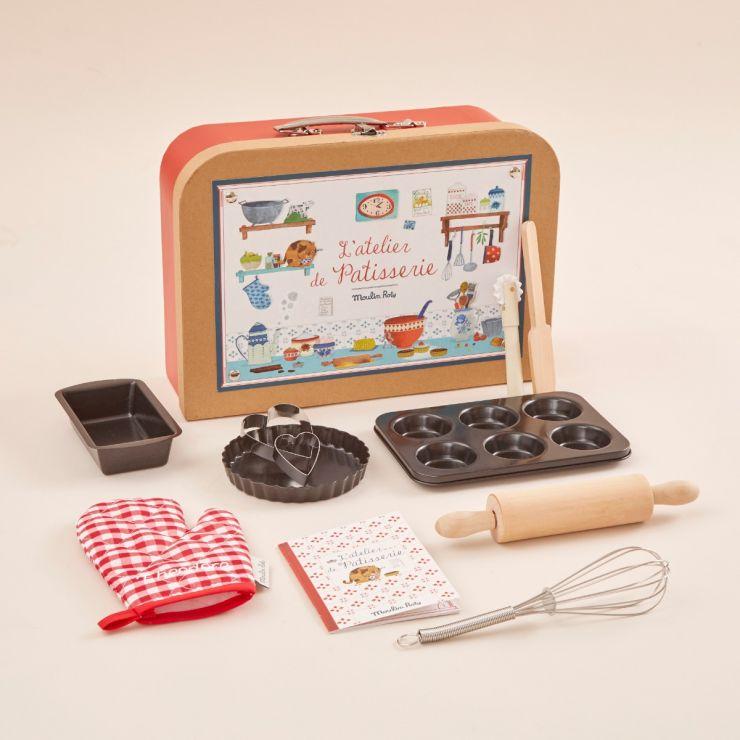 Personalised Little Baker, Baking Kit Case by Moulin Roty