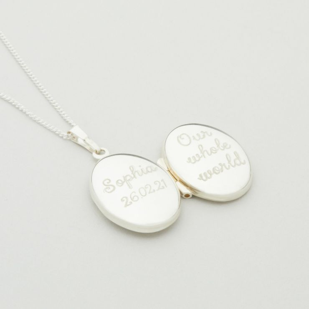 Personalised Children's Sterling Silver Locket