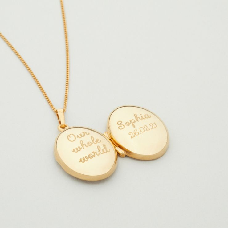 Personalised Children's 18ct Gold Plated Locket