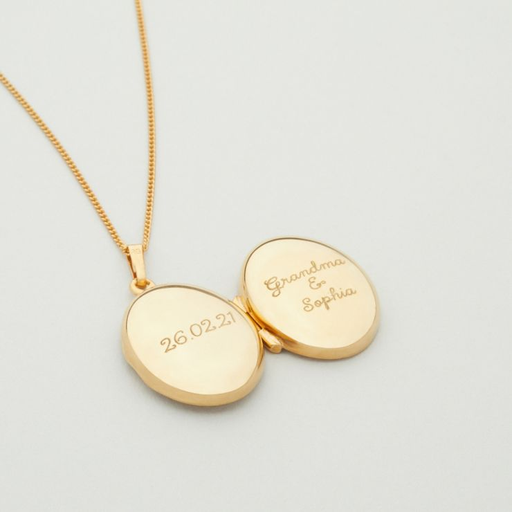 Personalised 18ct Gold Plated Locket