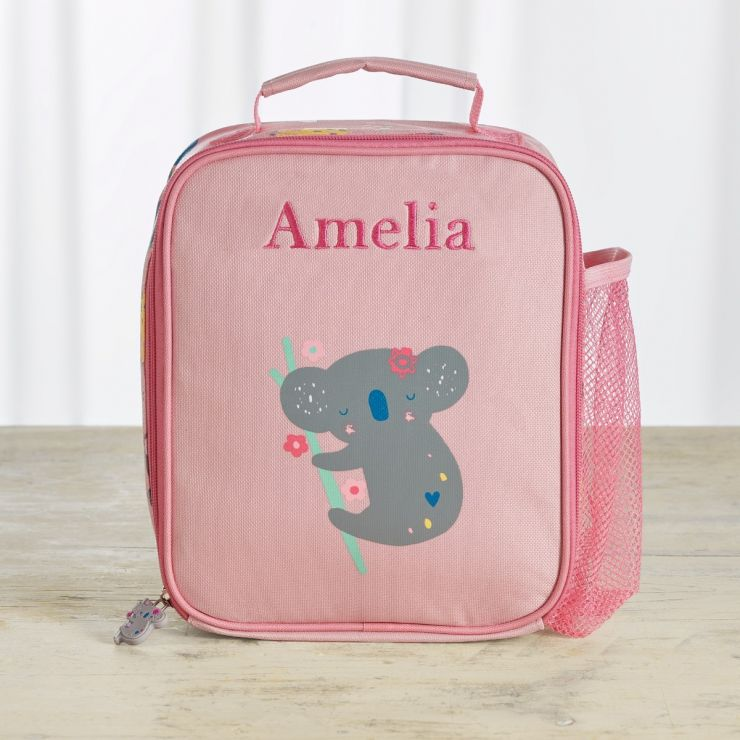 Personalized Koala & Friends Print Lunch Bag