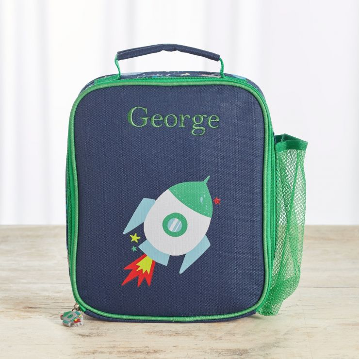 Personalized Space Print Lunch Bag