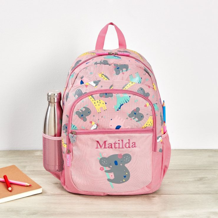 Personalised Koala & Friends Print Junior Backpack