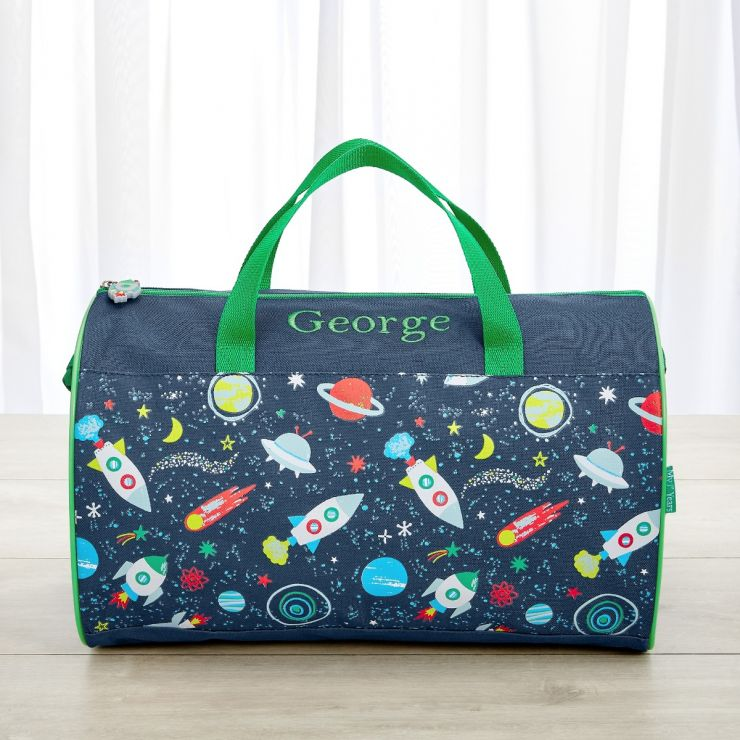 Personalized Space Print Duffle Bag