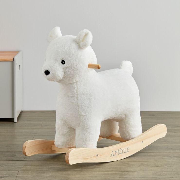 Personalised Plush Polar Bear Rocker