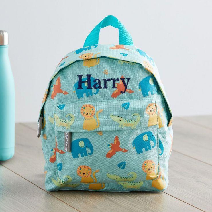 Personalised Jungle Print Mini Backpack