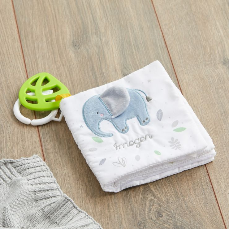 Personalized Jungle Animal Soft Activity Book
