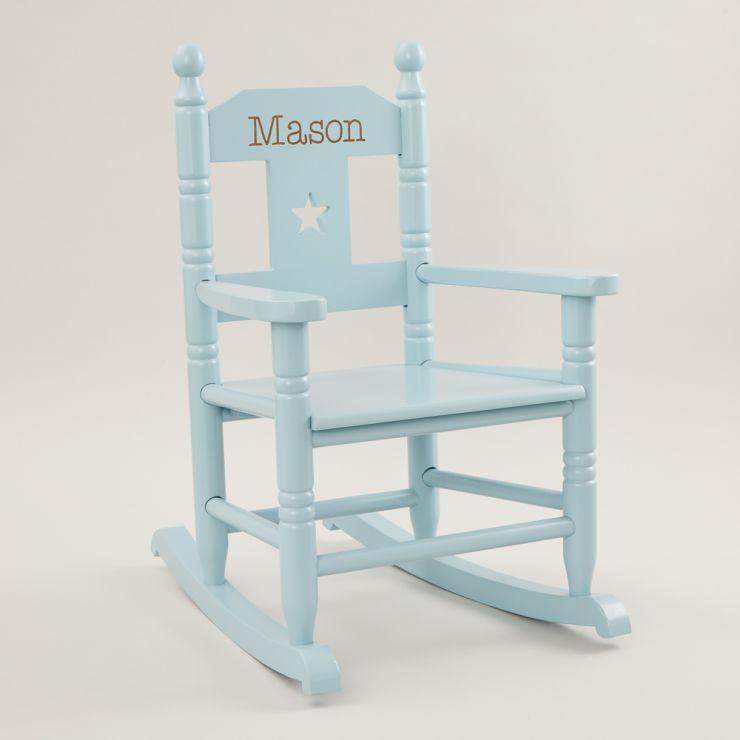 Personalised Blue Star Children's Rocking Chair