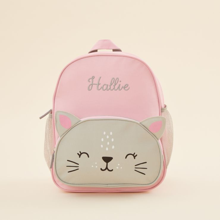 Personalised Cat Print Infant Backpack