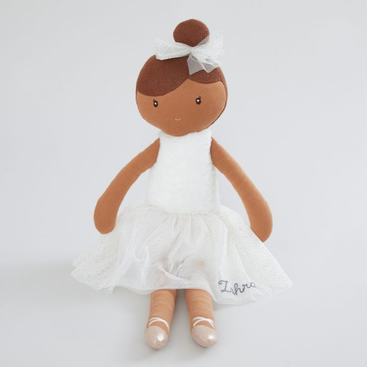 Personalised Large Ballerina Soft Doll with Dark Hair