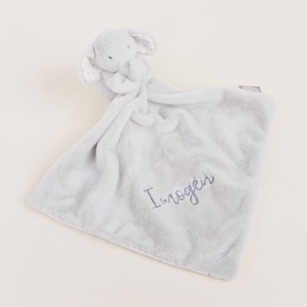 Personalised Light Grey Elephant Comforter