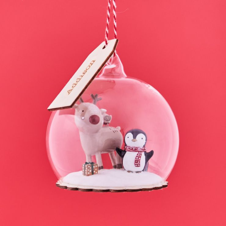 Personalised Christmas Friends Dome Bauble