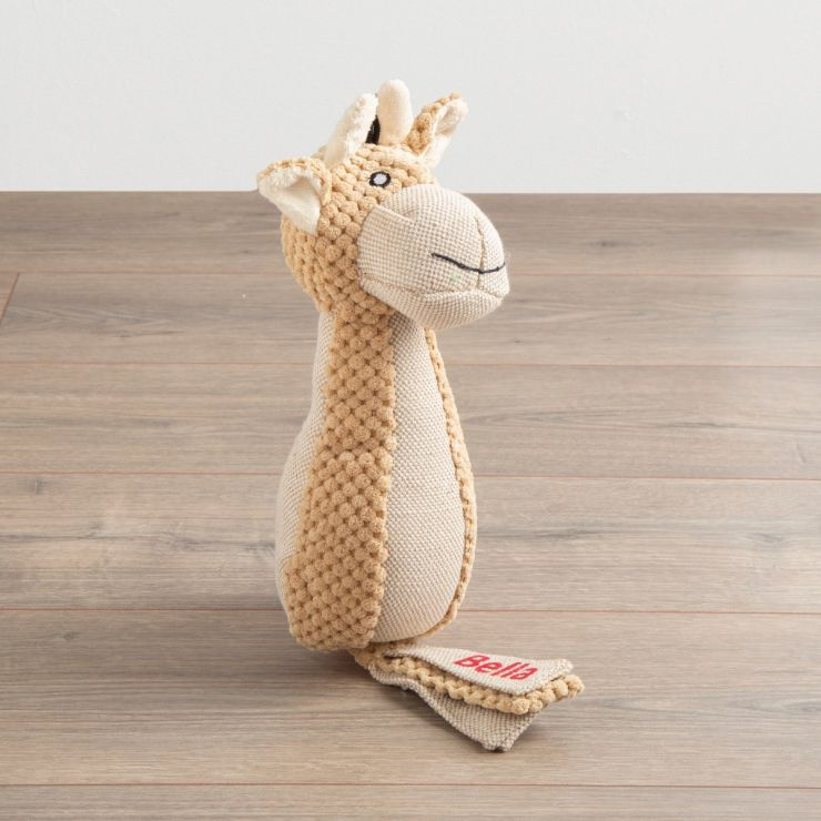 Personalised Brown Giraffe Pet Toy