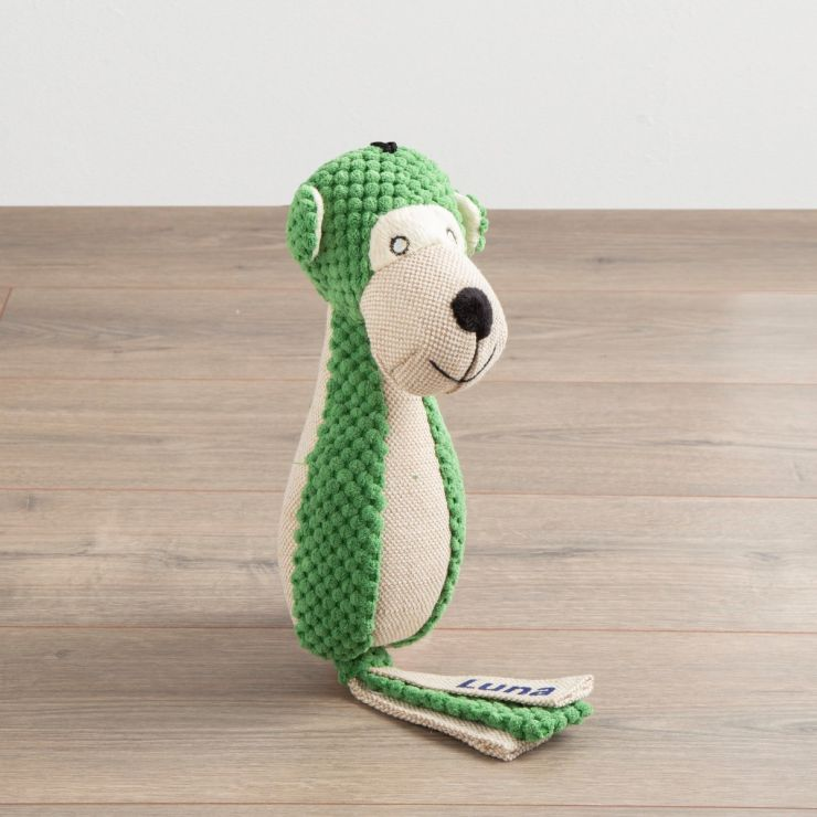 Personalised Green Monkey Pet Toy