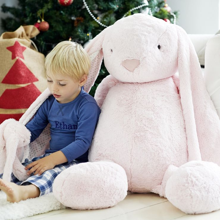 Personalised Supersized Pink Bunny Soft Toy - Model