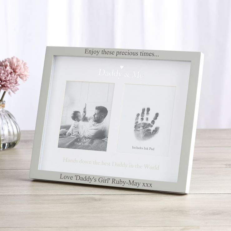 Personalized Double Picture 'Daddy & Me' Picture Frame