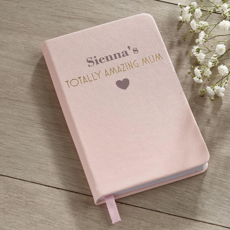 Personalised 'Amazing Mum' A6 Notebook