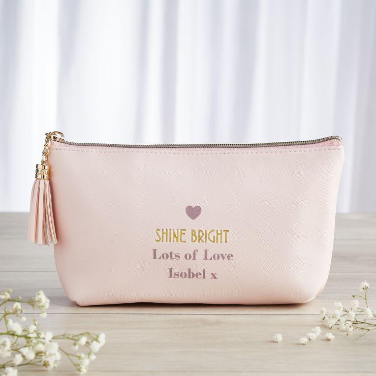 Personalised 'Shine Bright' Accessory Bag