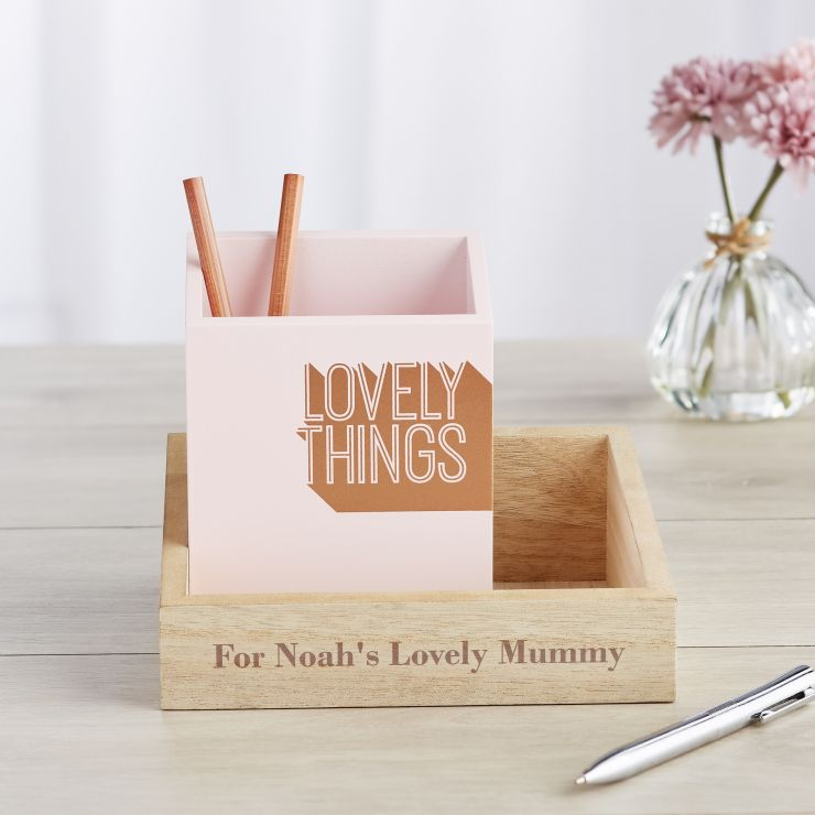 Personalised 'Lovely Things' Desk Organiser