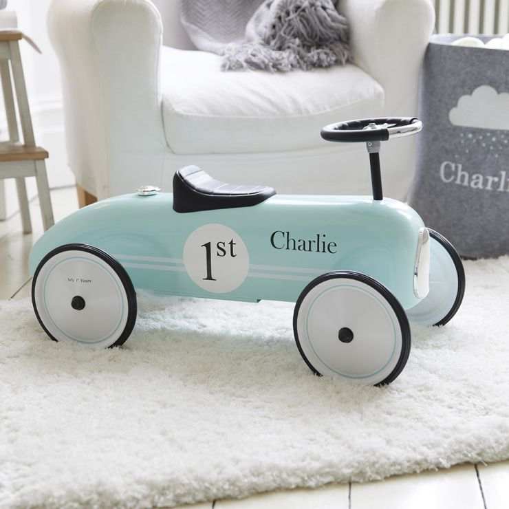 Personalised Blue Ride On Car