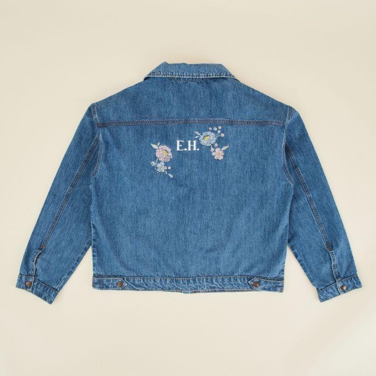 Personalised Floral Design Adult Denim Jacket