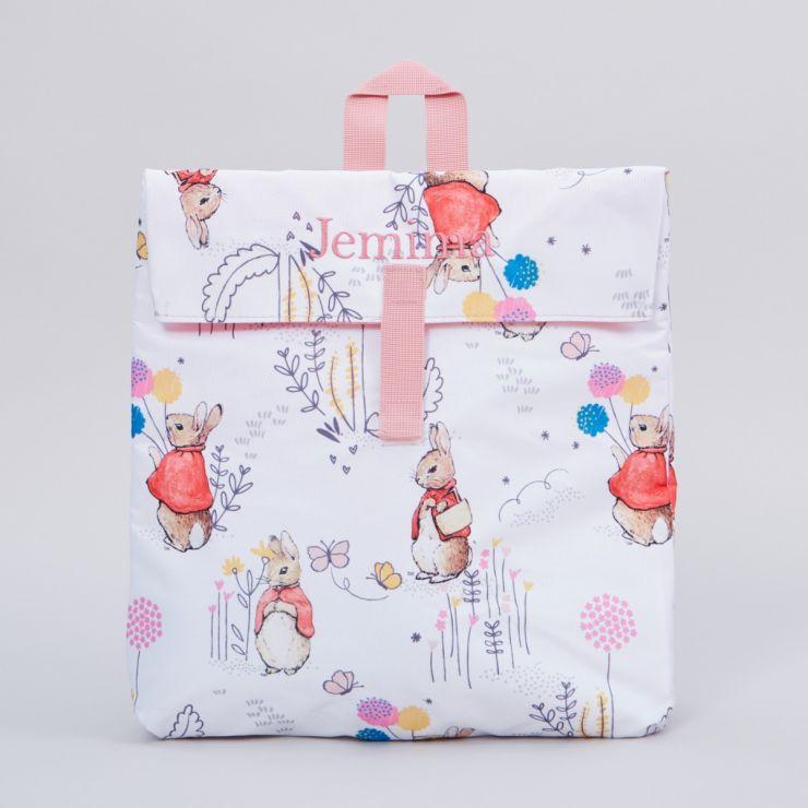 Personalised Flopsy Bunny Print Backpack