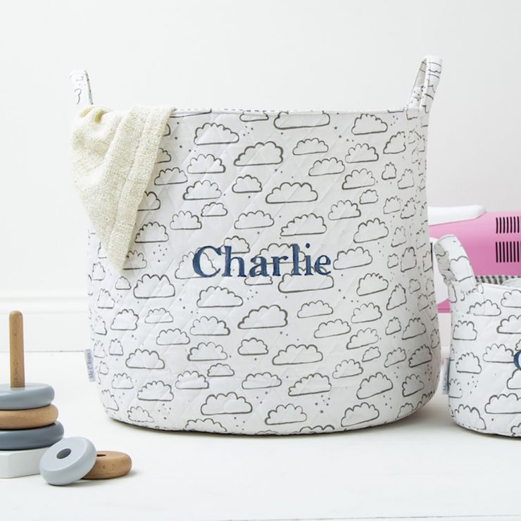 Personalised Large Cloud Storage Bag