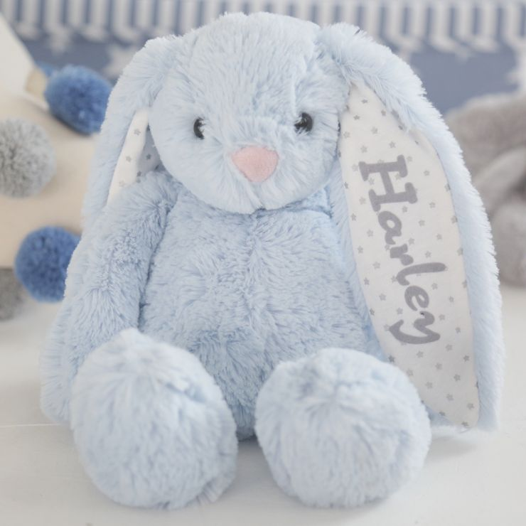 Personalised Blue Bunny Soft Toy For Gift Set