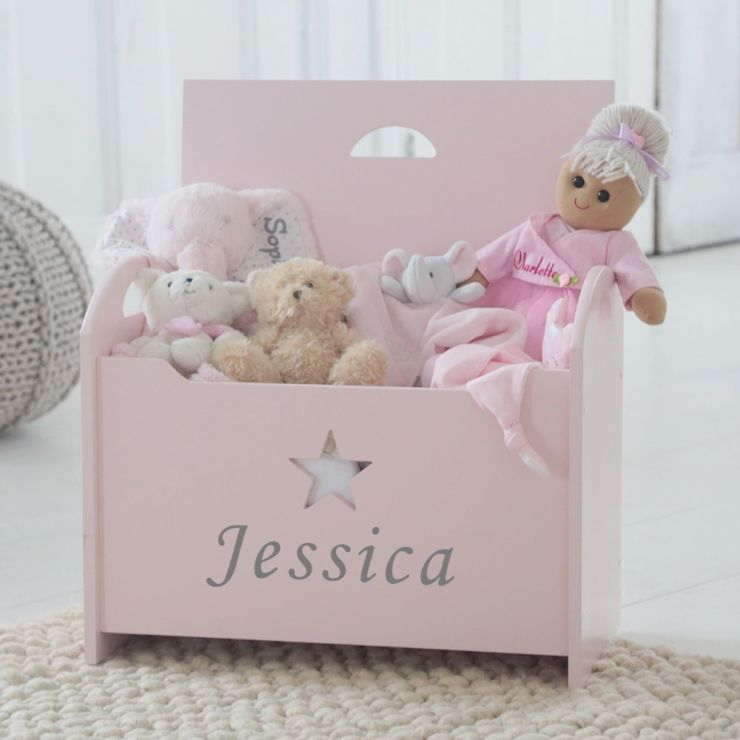 Personalised Pink Star Toy Box