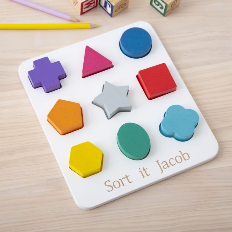 Personalized Wooden Shape Sorter