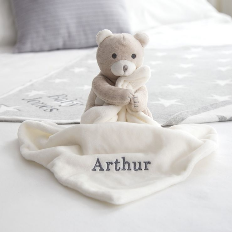 Personalised Super Soft Bear Comforter