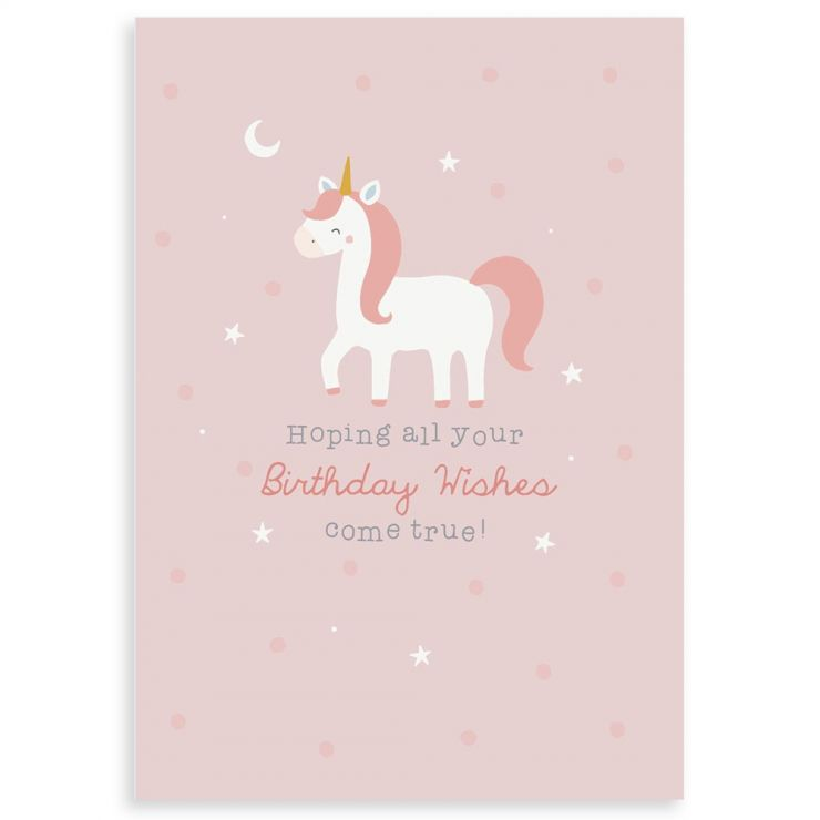 Personalized Unicorn Design Children's Birthday Greetings Card