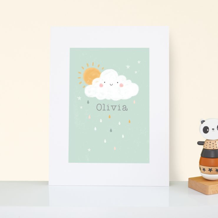 Personalised Cloud Design Nursery Wall Art