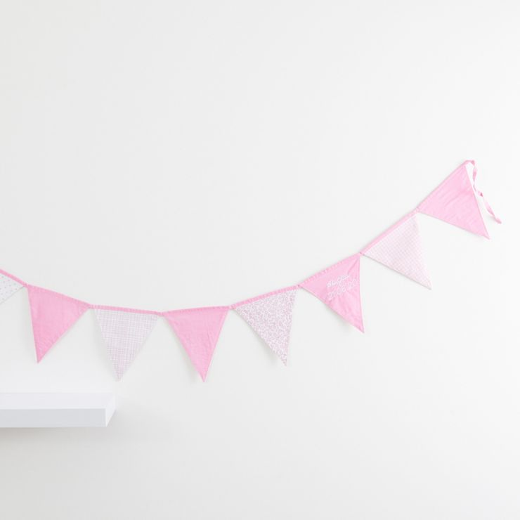 Personalised Pink Patchwork Bunting