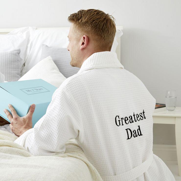 Personalised Greatest Dad/Grandad Waffle Robe