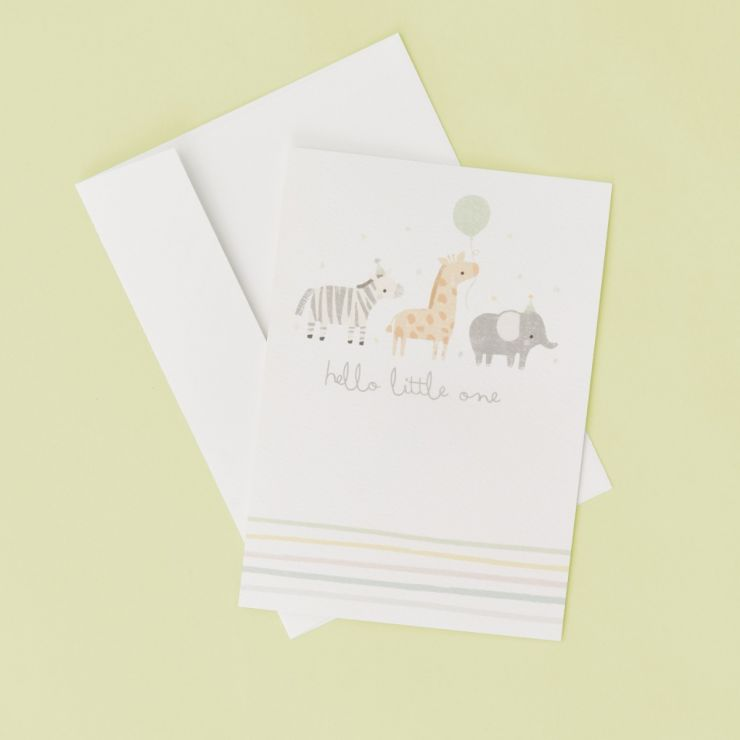 Personalized Animal Design New Baby Greetings Card