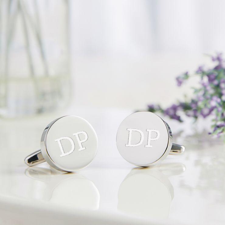Personalised Steel Disc Cufflinks & Box