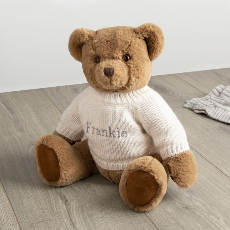 Personalized Traditional Brown Bear with Cream Sweater
