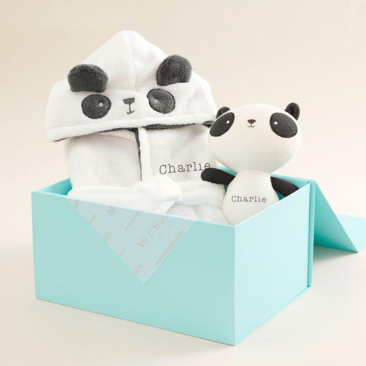 Personalised Panda Goodnight Gift Set